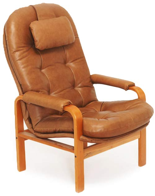 Leather Chair in Loose Square