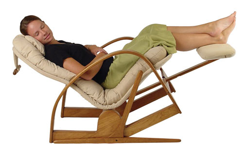 Flip Flop Recliner In Zero-Gravity Position