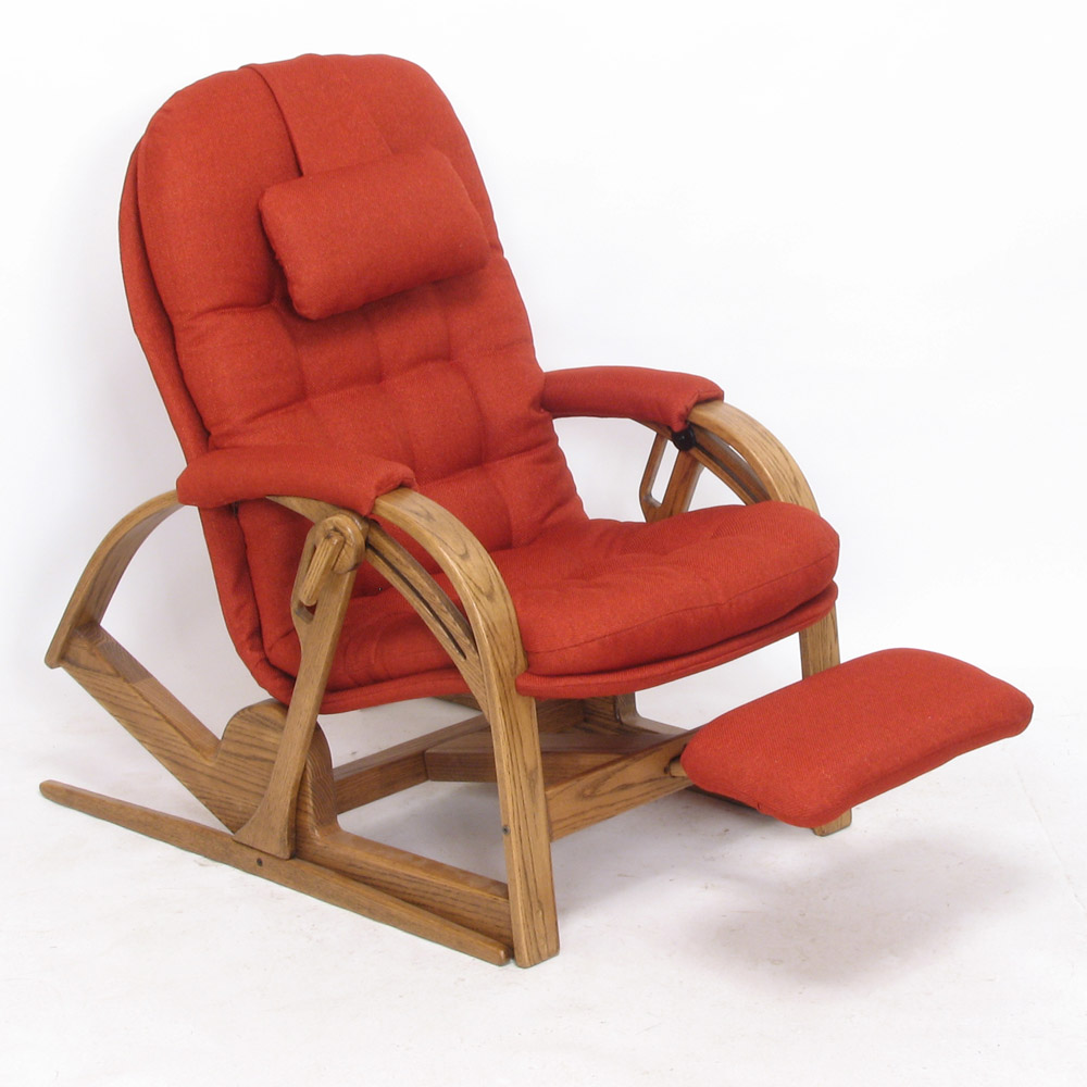 Ultra-Recliner - Boxford: Hibiscus - Oak: Walnut